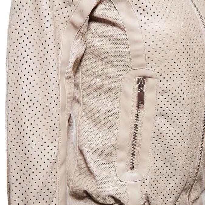 Damska kurtka z perforacją bata, beżowy, 971-5172 - 16