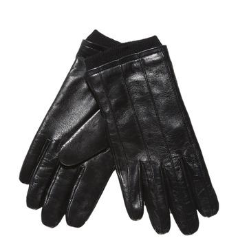 Skórzane rękawiczki ze ściągaczem bata, czarny, 904-6117 - 13