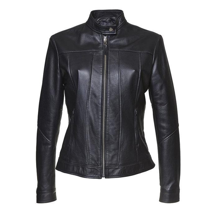 Skórzana kurtka damska bata, czarny, 974-6146 - 13
