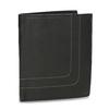 Skórzany portfel z przeszyciami bata, czarny, 944-6148 - 13