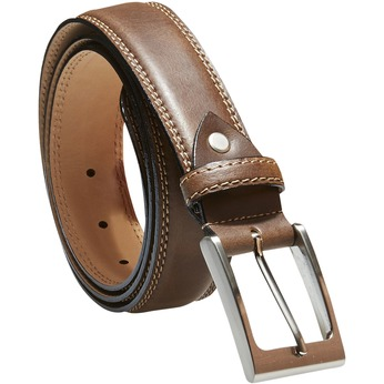 Klasyczny skórzany pasek bata, brązowy, 954-3828 - 13