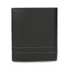 Skórzany portfel z przeszyciami bata, czarny, 944-6148 - 16