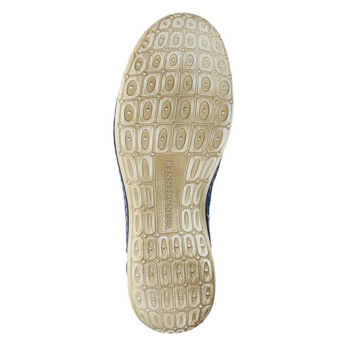Skórzane buty sportowe weinbrenner, niebieski, 546-9238 - 26