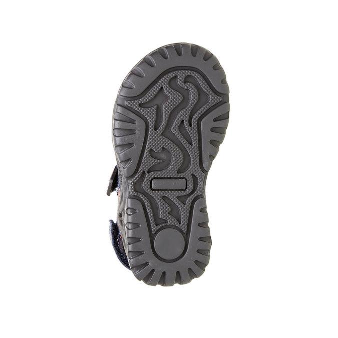 Dziecięce skórzane sandały mini-b, niebieski, 466-9121 - 26