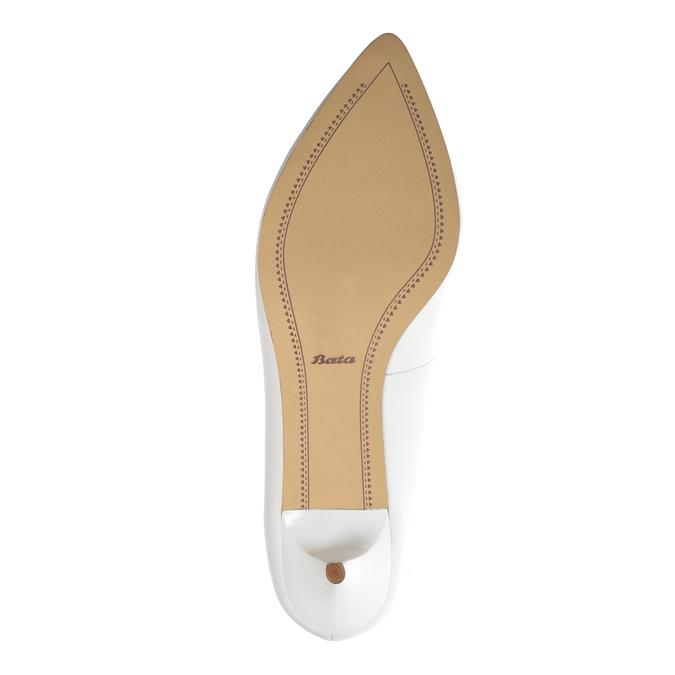 Białe czółenka ze skóry bata, biały, 624-1630 - 26