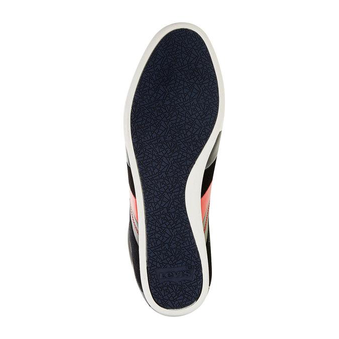 Skórzane buty sportowe na co dzień levis, czarny, niebieski, 844-9260 - 26
