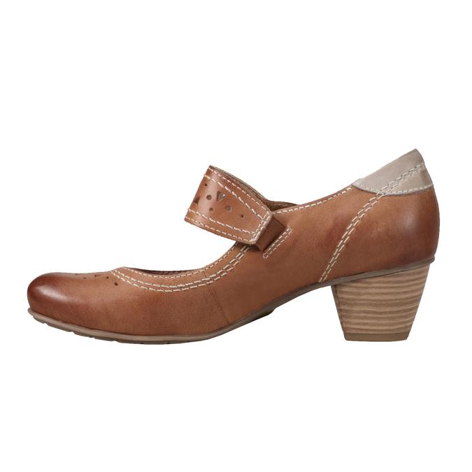 Mary Jane bata, brązowy, 626-4111 - 15