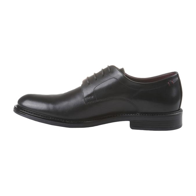 Skórzane brogsy Comfort bata-comfit, czarny, 824-6938 - 15
