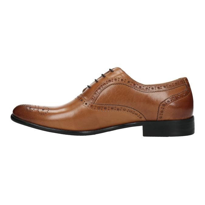 Brązowe półbuty ze skóry typu Oxford bata, brązowy, 824-3641 - 26