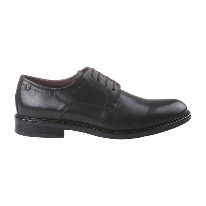 Skórzane brogsy Comfort bata-comfit, czarny, 824-6938 - 26