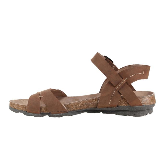 Damskie skórzane sandały weinbrenner, brązowy, 566-4102 - 16