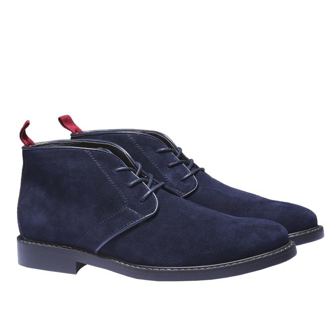 Skórzane buty Chukka bata, niebieski, 893-9245 - 26
