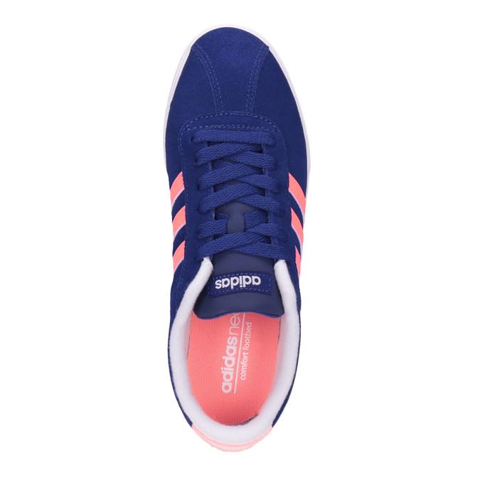 Damskie skórzane buty sportowe adidas, niebieski, 503-9201 - 19