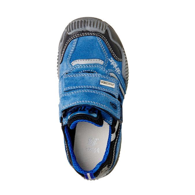 Dziecięce skórzane buty sportowe na rzepy mini-b, niebieski, 413-9130 - 19