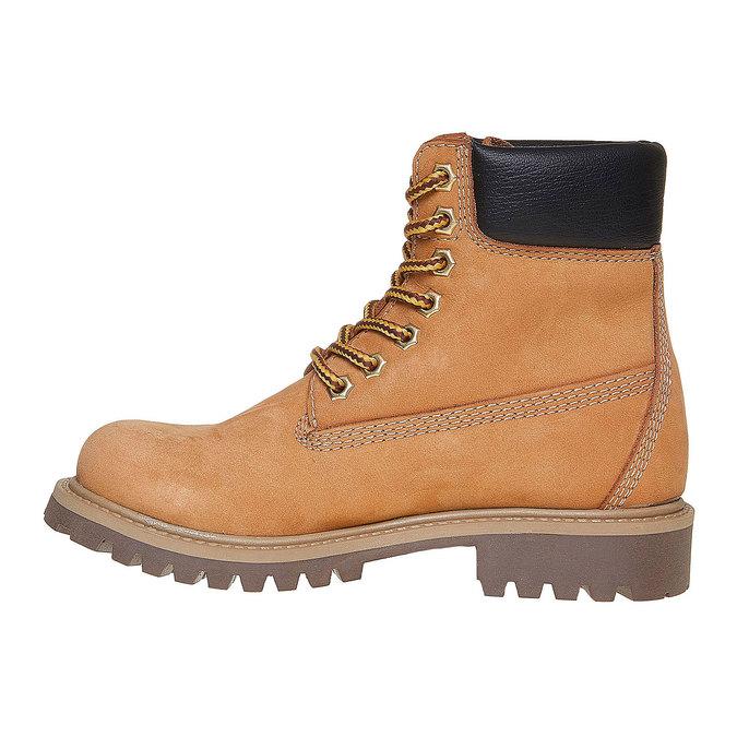Skórzane buty dziecięce na grubej podeszwie weinbrenner-junior, brązowy, 396-8182 - 19