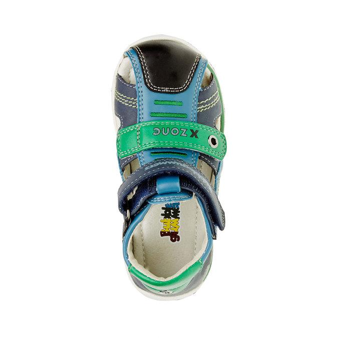 Dziecięce skórzane sandały bubblegummer, niebieski, 114-9144 - 19