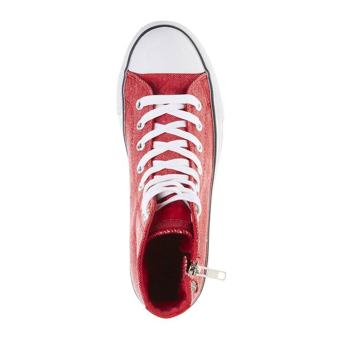 Czerwone buty sportowe do kostki north-star, czerwony, 589-5312 - 19