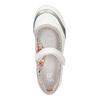 Białe baleriny z paskiem na podbiciu bata, biały, 321-1310 - 19