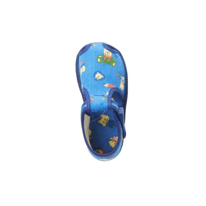 Kapcie dziecięce do kostki bata, niebieski, 179-9210 - 19