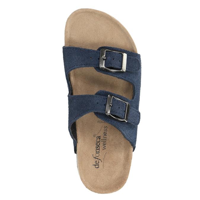 Dziecięce niebieskie pantofle de-fonseca, niebieski, 373-9600 - 19