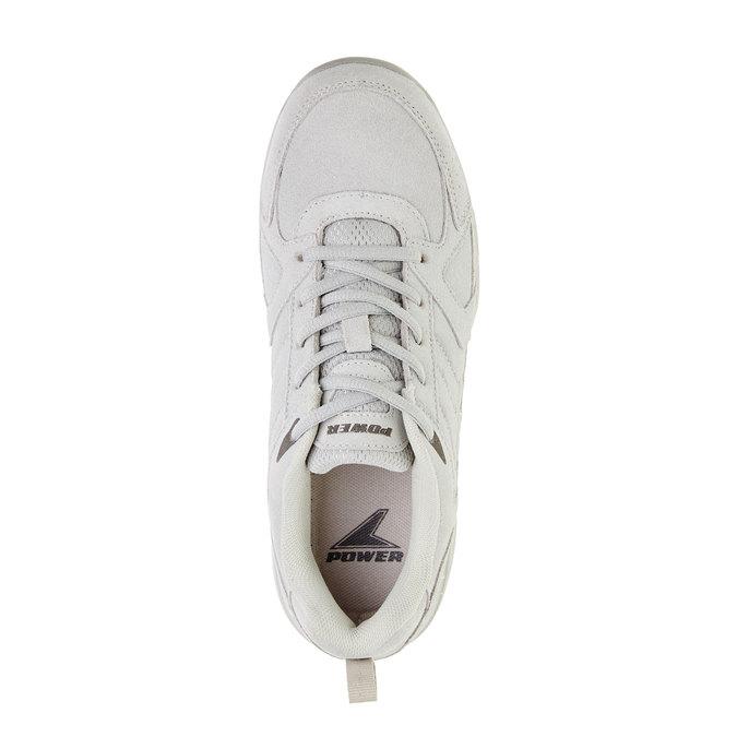 Skórzane buty sportowe power, szary, 503-2742 - 19