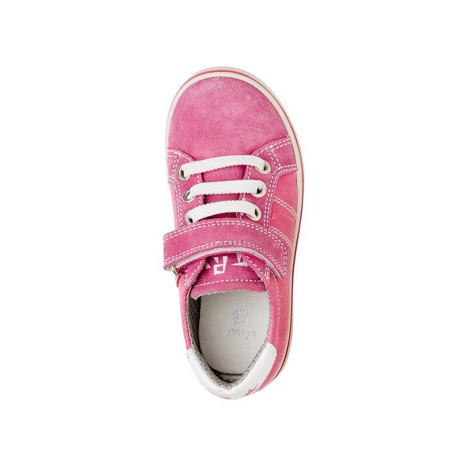 Dziecięce skórzane buty sportowe mini-b, różowy, 223-5120 - 19