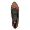 Czółenka damskie na szerszym obcasie bata, brązowy, 626-4602 - 19