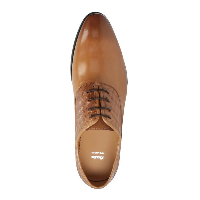 Brązowe oksfordy ze skóry bata, brązowy, 824-3643 - 19