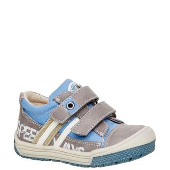 Dziecięce buty na rzep mini-b, szary, 111-2104 - 13