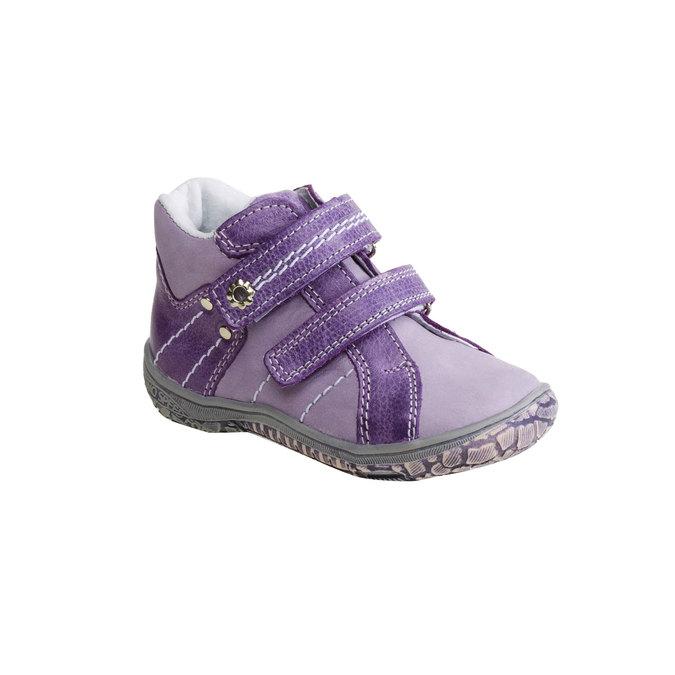 Dziecięce skórzane buty do kostki mini-b, fioletowy, 126-9100 - 13