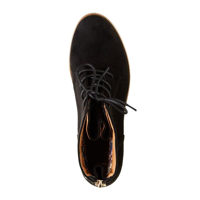 Botki z zamkiem bata, czarny, 599-6493 - 19