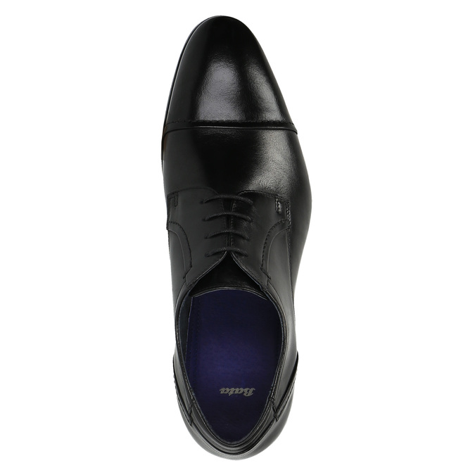 Półbuty męskie ze skóry bata, czarny, 824-6710 - 19