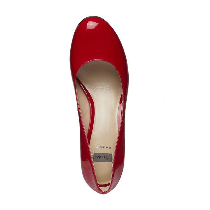 Czerwone skórzane czółenka bata, czerwony, 728-5953 - 19