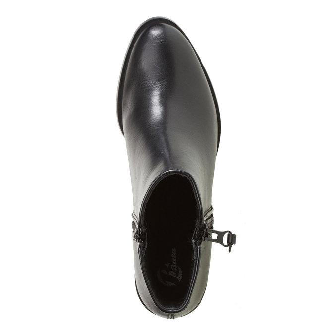 Kozaki do kostki bata, czarny, 594-6145 - 19