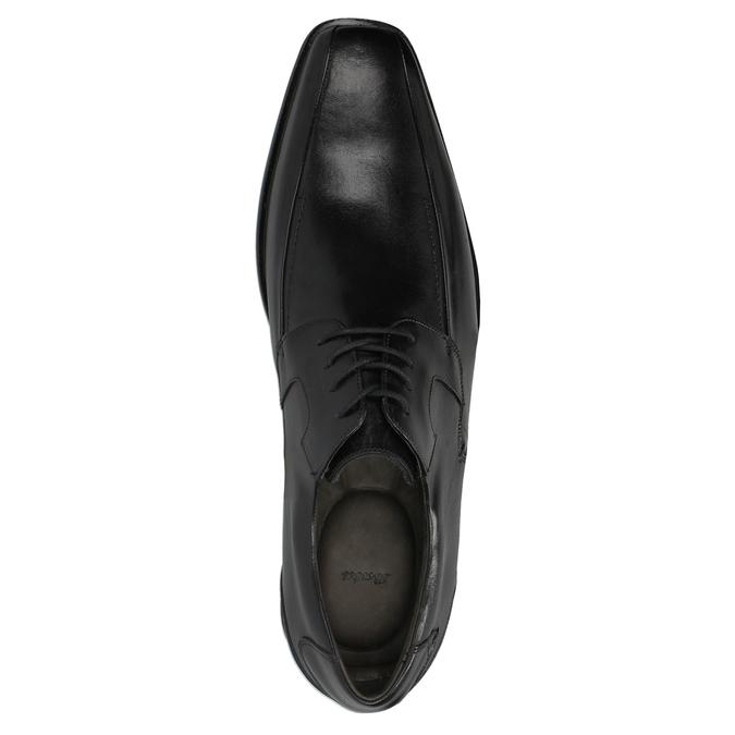 Męskie skórzane półbuty bata, czarny, 824-6721 - 19
