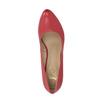 Czerwone czółenka ze skóry insolia, czerwony, 724-5633 - 19