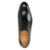Męskie półbuty ze skóry, ze zdobieniami bata, czarny, 824-6640 - 19