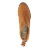 Skórzane botki z chwostem bata, brązowy, 793-4601 - 19
