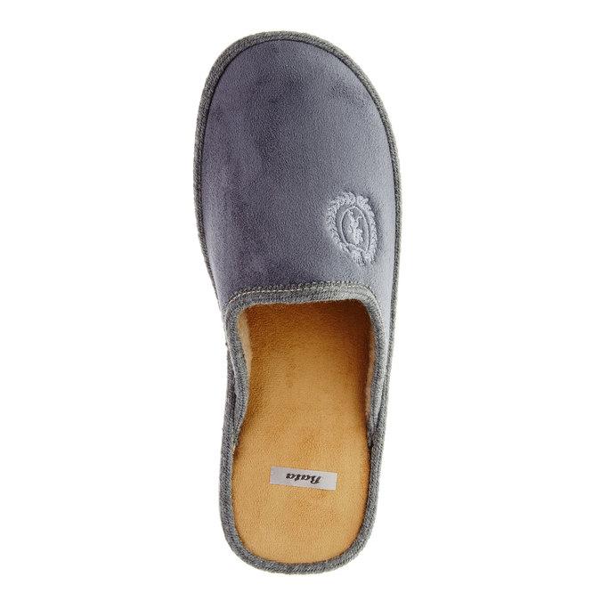 Męskie obuwie domowe bata, szary, 879-2165 - 19