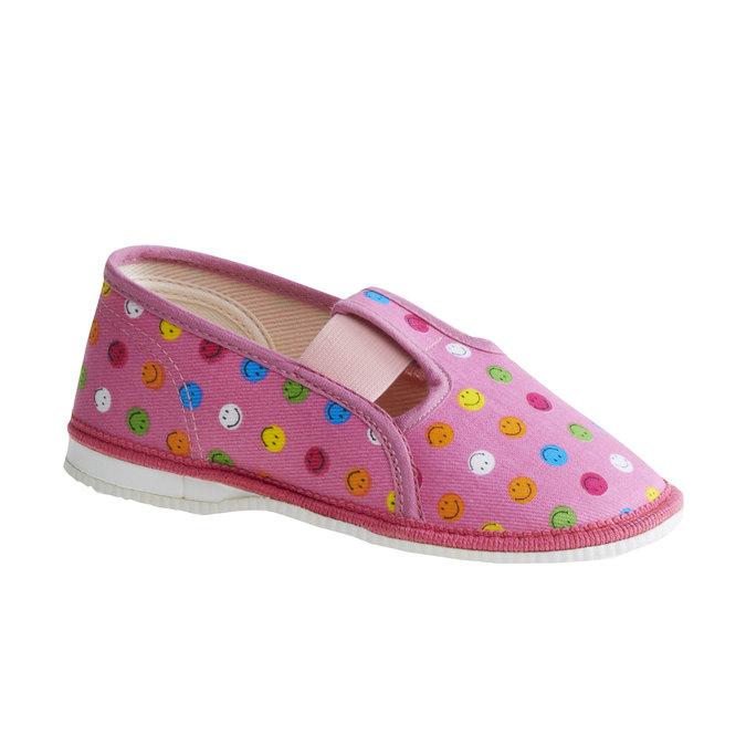 Dziecięce pantofle z uśmieszkami bata, różowy, 179-5105 - 13