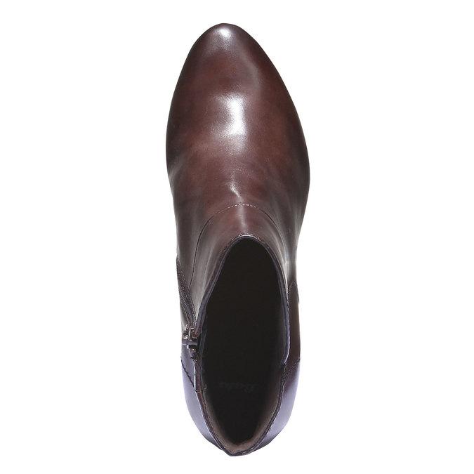 Skórzane botki bata, brązowy, 794-4109 - 19