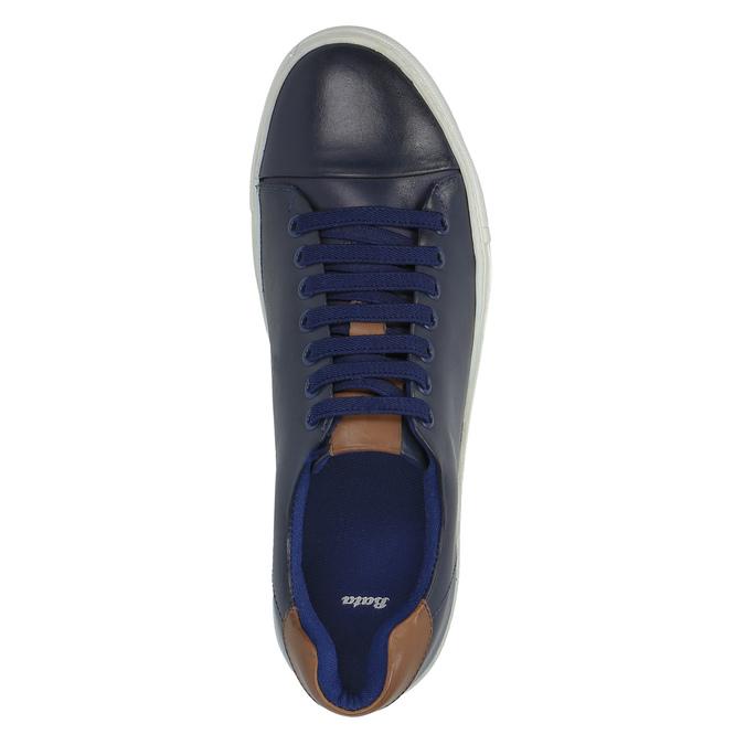 Męskie skórzane buty sportowe bata, niebieski, 844-9626 - 19