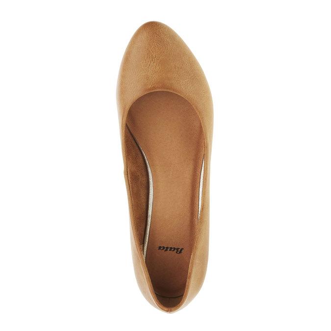 Damskie czółenka na stożkowym obcasie bata, brązowy, 621-4949 - 19