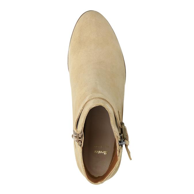 Damskie zamszowe botki bata, beżowy, 693-1600 - 19