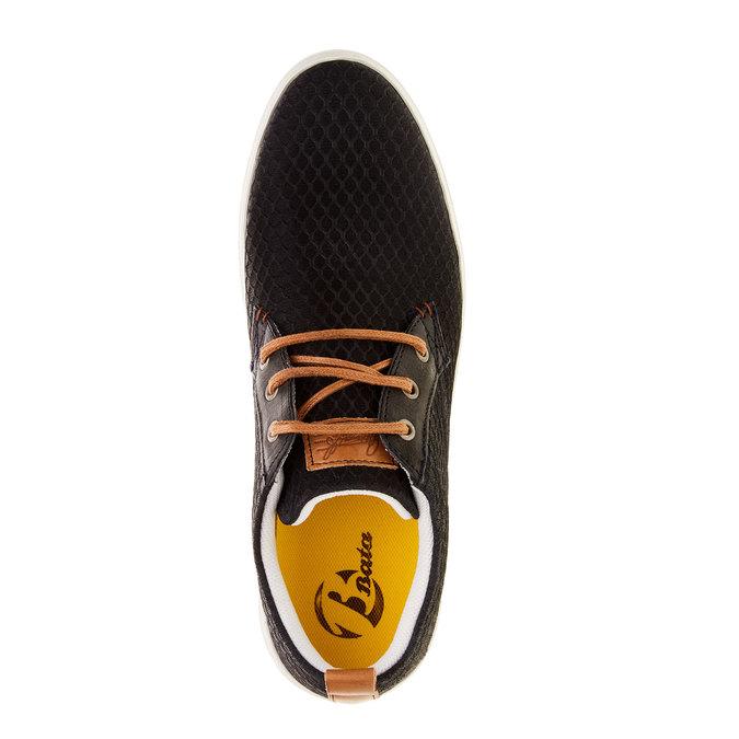 Skórzane buty sportowe na co dzień z wytłoczonym wzorem bata, 843-9320 - 19