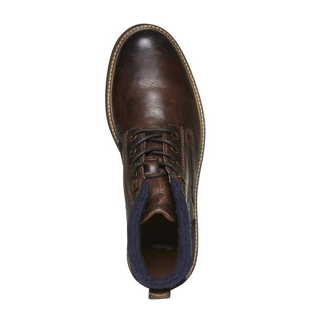 Skórzane botki bata, brązowy, 894-4133 - 19
