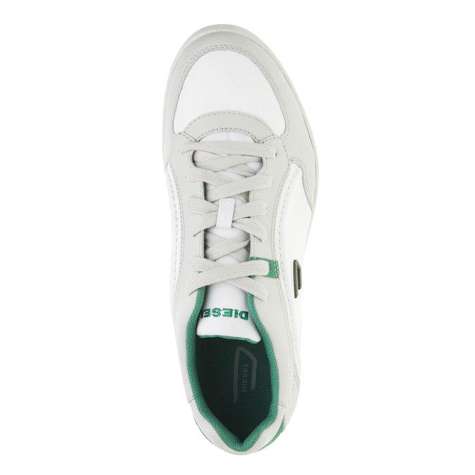 Męskie buty sportowe w codziennym stylu diesel, biały, 804-1103 - 19