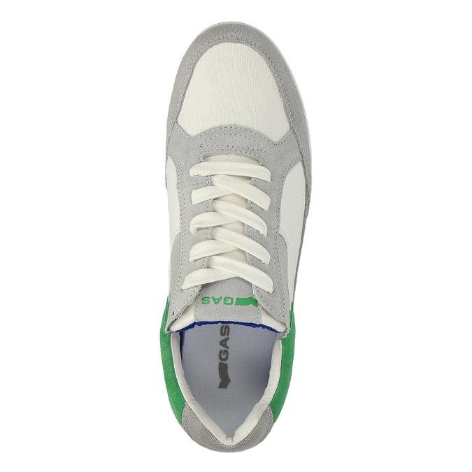 Męskie buty sportowe w codziennym stylu gas, biały, 849-1628 - 19