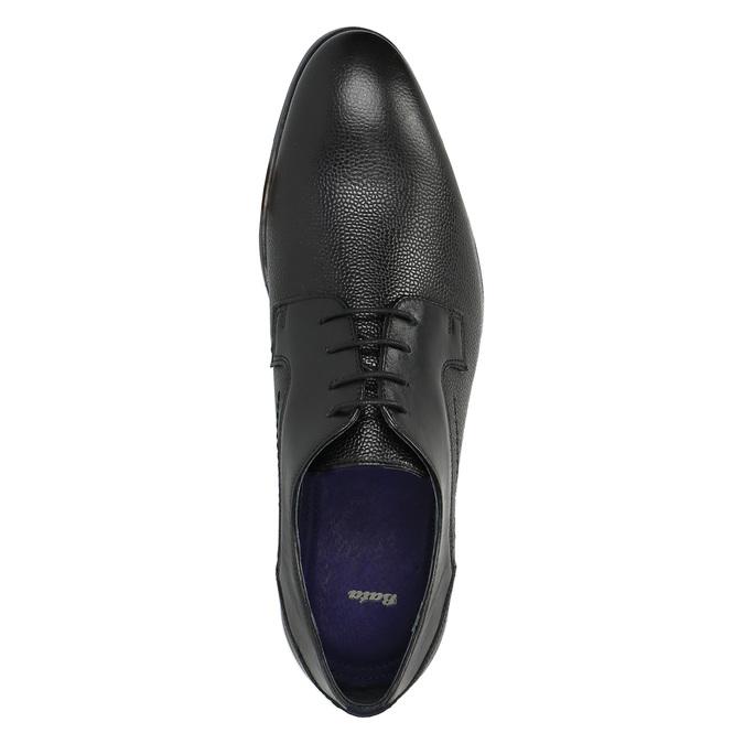 Półbuty męskie ze skóry bata, czarny, 824-6709 - 19