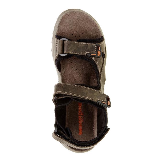 Męskie skórzane sandały weinbrenner, brązowy, 866-2106 - 19